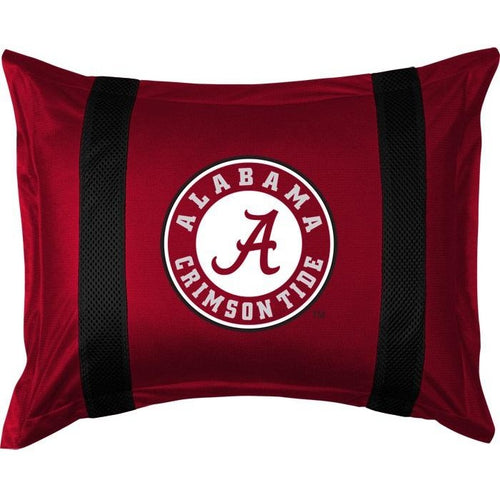 University of Alabama Pillow Sham with Jersey Mesh