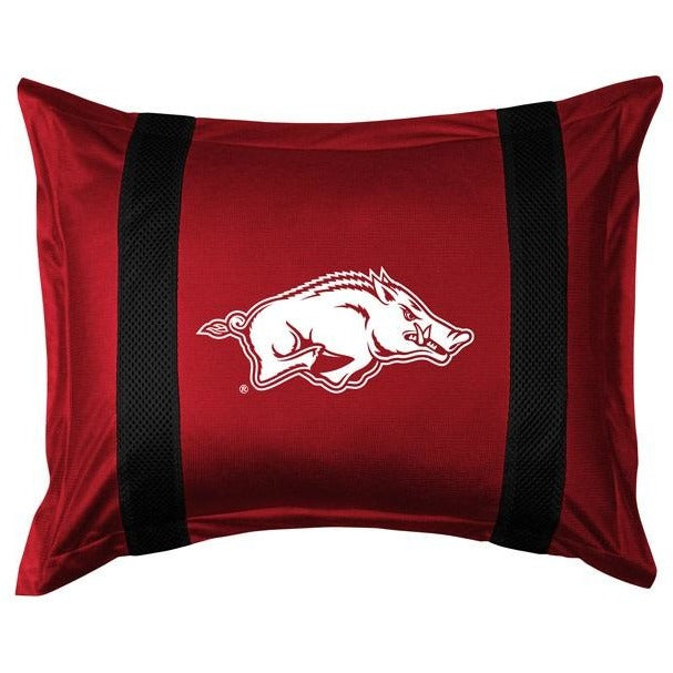 University of Arkansas Pillow Sham with Jersey Mesh