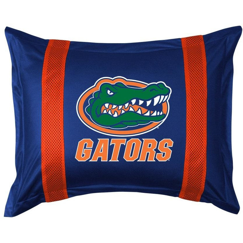 University of Florida Pillow Sham with Jersey Mesh