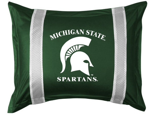 Michigan State University Pillow Sham with Jersey Mesh
