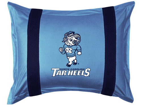 University of North Carolina Pillow Sham with Jersey Mesh