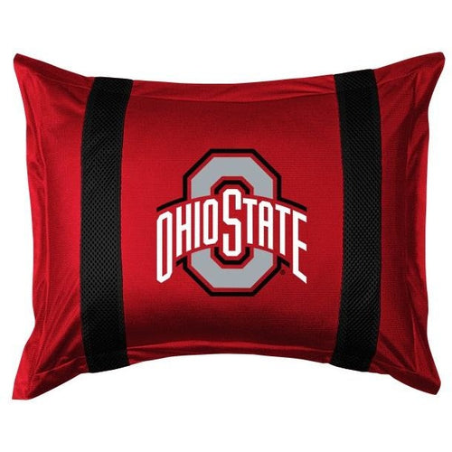 Ohio State University Pillow Sham with Jersey Mesh