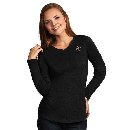 Vanderbilt University Ladies Heather Jersey V-Neck Tee