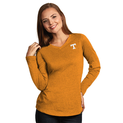 University of Tennessee Ladies Heather Jersey V-Neck Tee