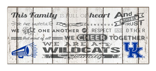 University of Kentucky Weathered Family Cheer Plaque
