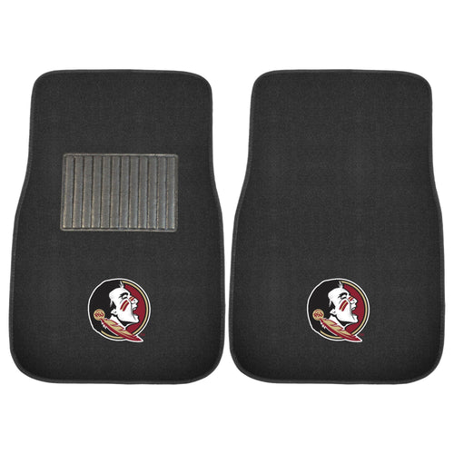 Florida State University Black Carpet Car Floor Mats - 2-Piece