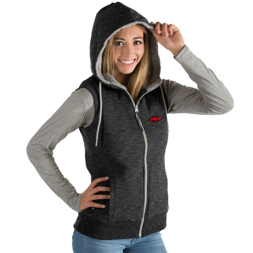 University of Arkansas Ladies Blitz Heather Jersey Hooded Vest
