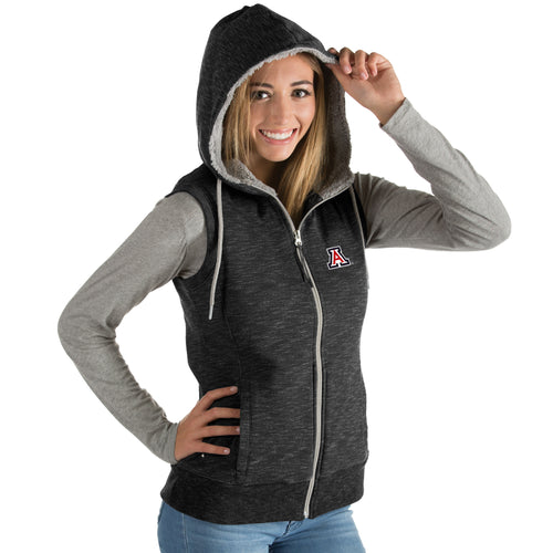 University of Arizona Ladies Blitz Heather Jersey Hooded Vest