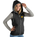 University of Michigan Ladies Blitz Heather Jersey Hooded Vest (Medium)