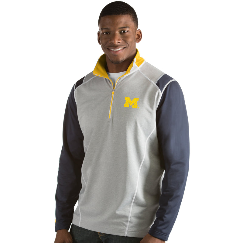 University of Michigan Men's Automatic Half Zip Pullover