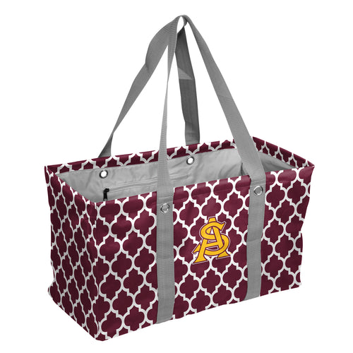 Arizona State University Quatrefoil Picnic Caddy