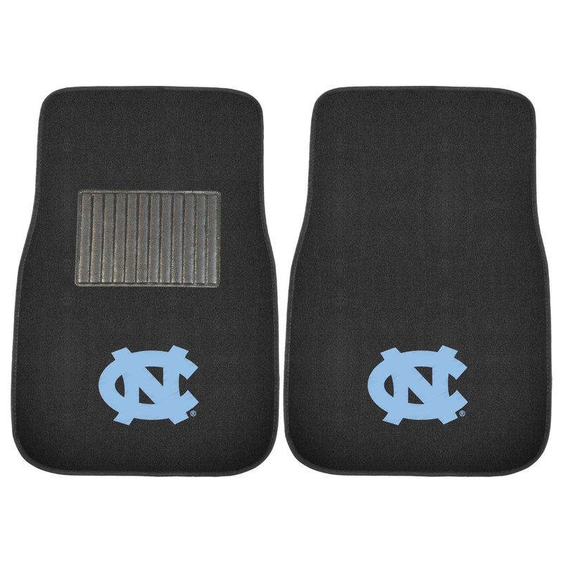 University of North Carolina Black Carpet Car Floor Mats - 2-Piece