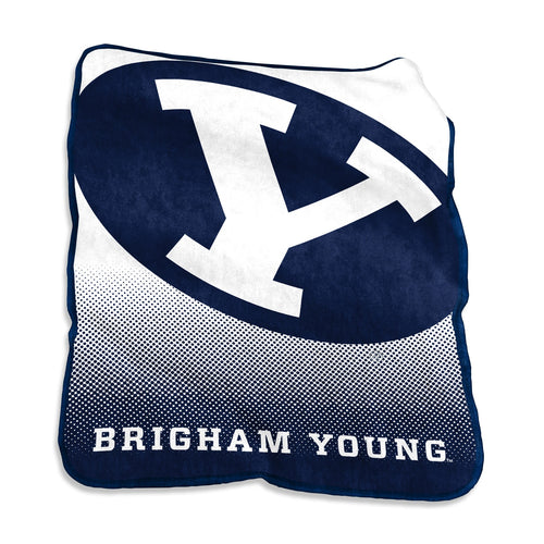 Brigham Young University Raschel Blanket
