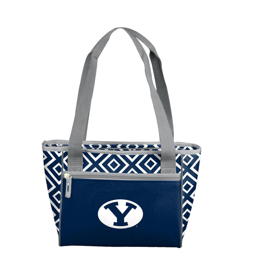 Brigham Young University Double Diamond 16 Can Cooler Tote