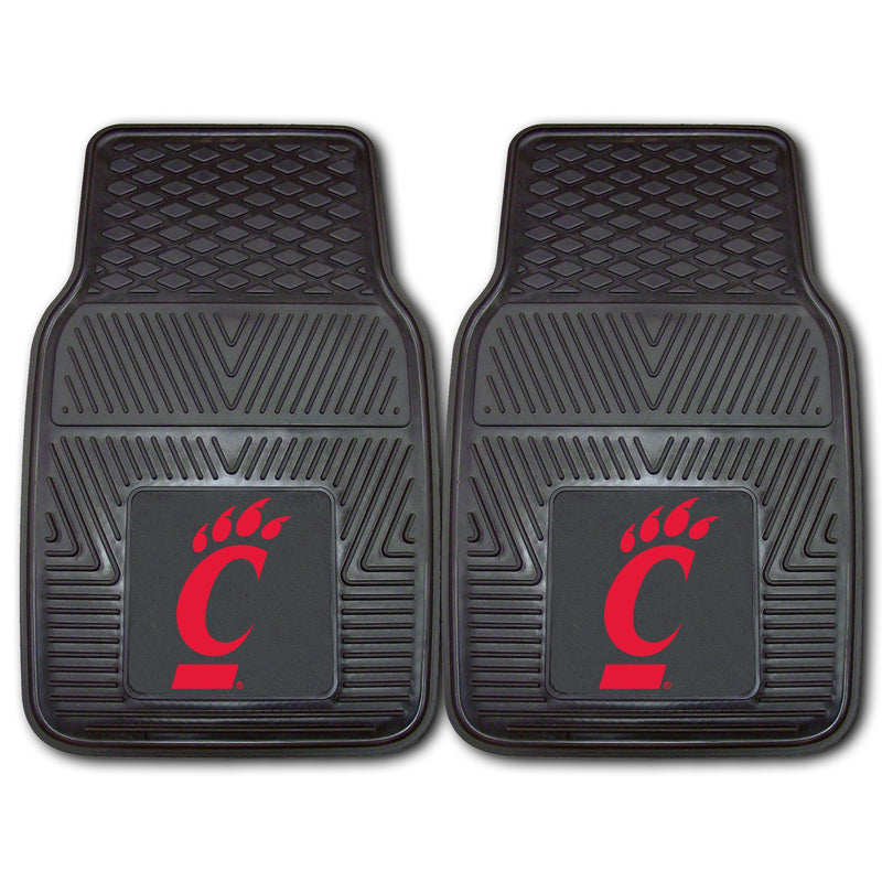 University of Cincinnati Heavy Duty Vinyl Car Floor Mats (Set of 2)