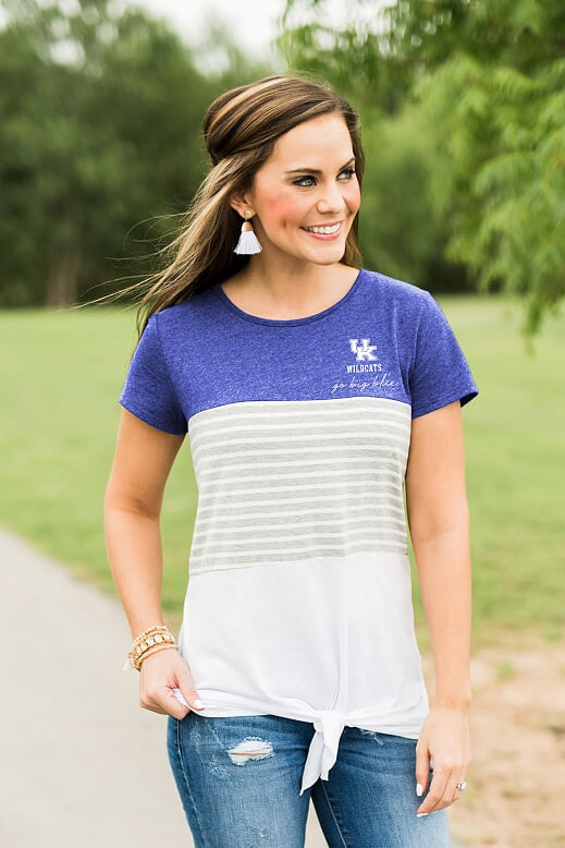University of Kentucky Colorblock Knotted Tee