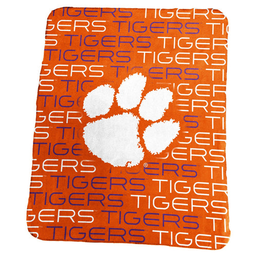 Clemson University Classic Fleece Lightweight Blanket