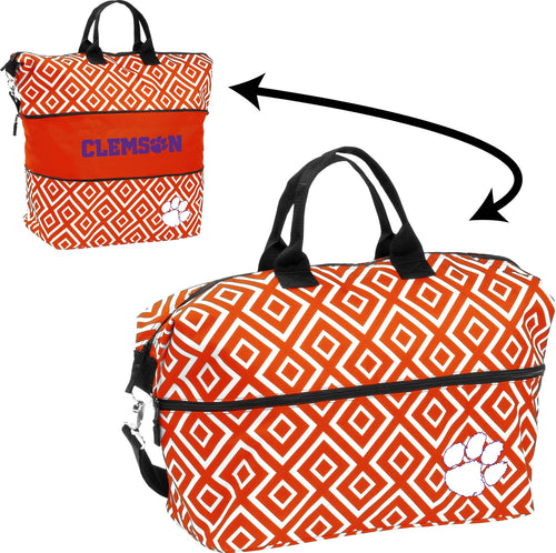 Clemson University Expandable Double Diamond Tote