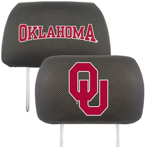 University of Oklahoma Head Rest Cover (Set of 2)