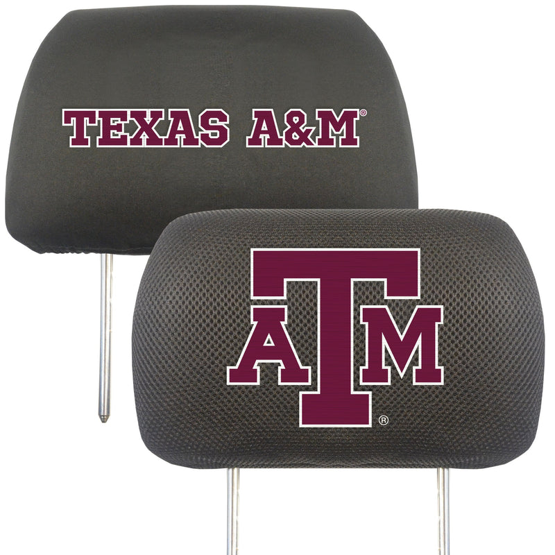 Texas A&M University Head Rest Cover (Set of 2)
