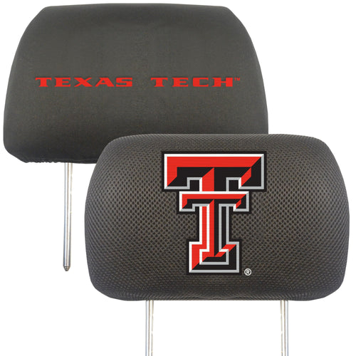 Texas Tech University Head Rest Cover (Set of 2)