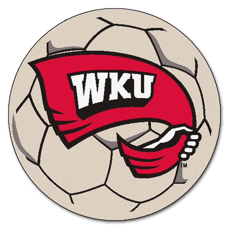 Western Kentucky University Soccer Ball Rug