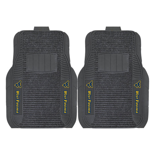 West Virginia University Deluxe Car Floor Mat (Set of 2)