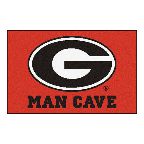 University of Georgia  Man Cave Area Rug
