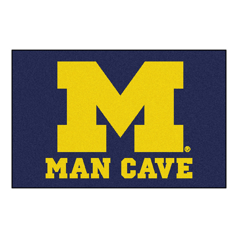 University of Michigan Man Cave Area Rug