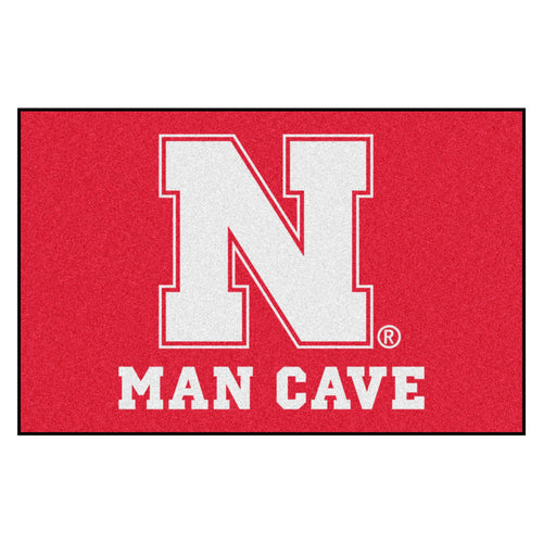 University of Nebraska Man Cave Area Rug