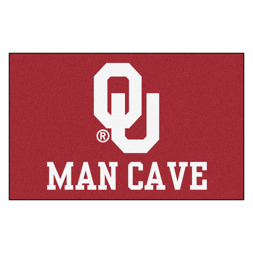 University of Oklahoma Man Cave Area Rug