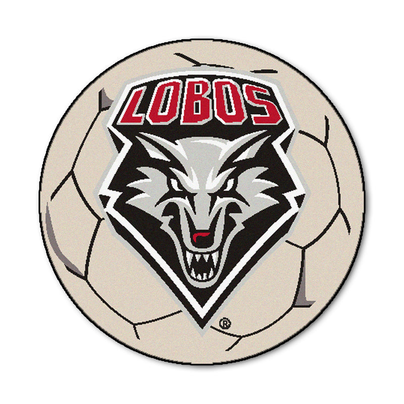 University of New Mexico Soccer Ball Rug