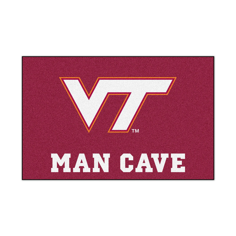 Virginia Tech University Man Cave Area Rug