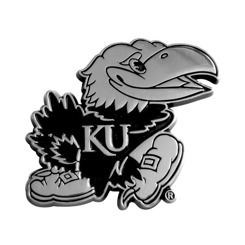 University of Kansas Chrome Car Emblem