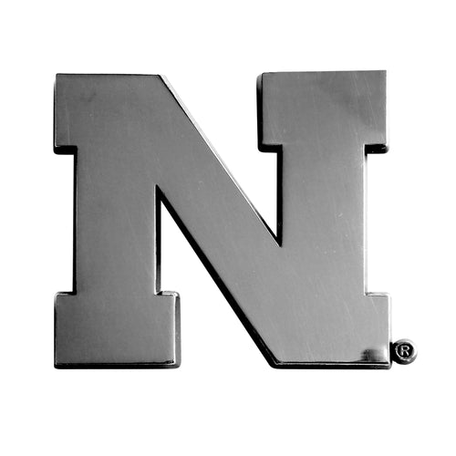 University of Nebraska Chrome Car Emblem