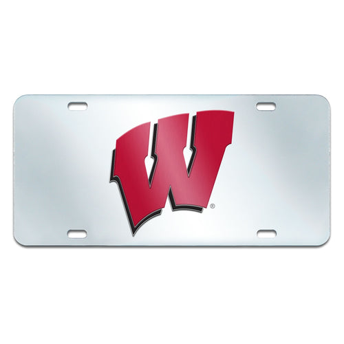University of Wisconsin Inlaid License Plate