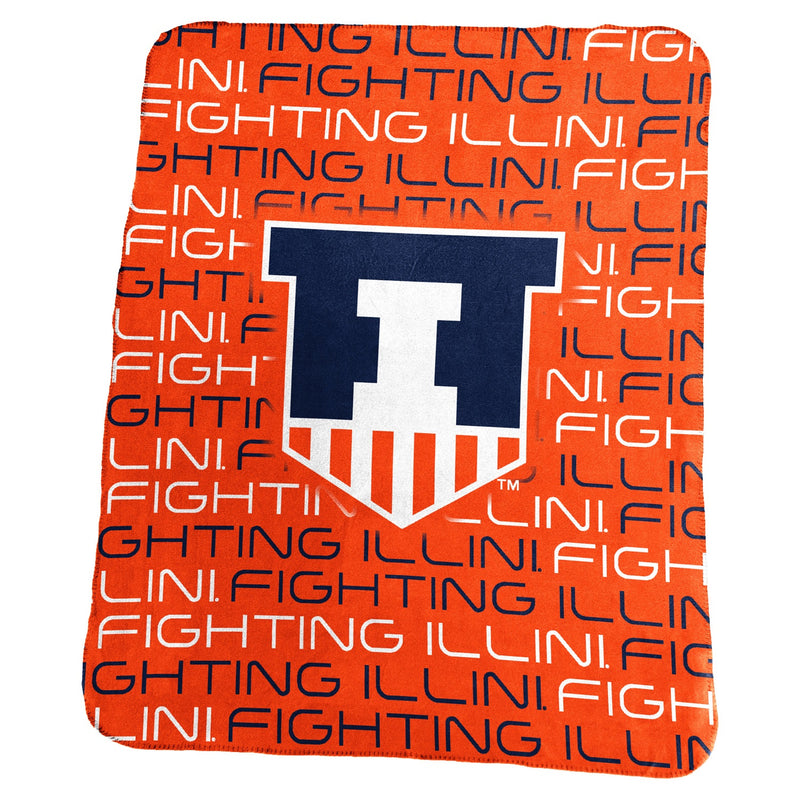 University of Illinois Classic Fleece Lightweight Blanket