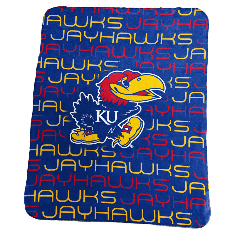 University of Kansas Classic Fleece Lightweight Blanket