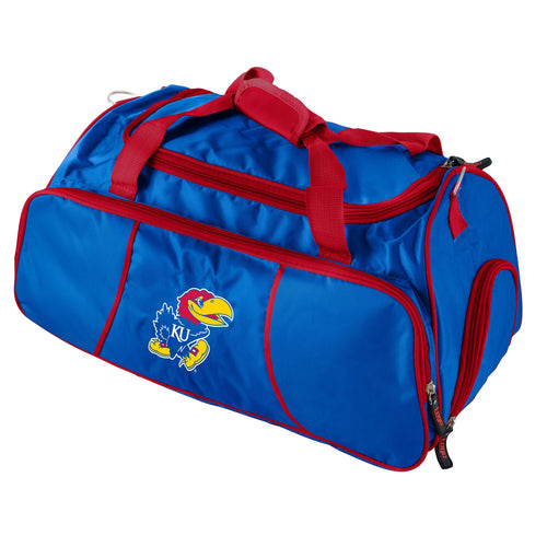 University of Kansas Athletic Duffle Bag
