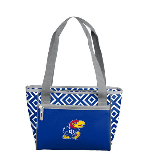 University of Kansas Double Diamond 16 Can Cooler Tote
