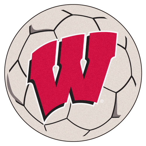 University of Wisconsin Soccer Ball Rug