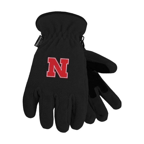 University of Nebraska Heavy-Weight Fleece Gloves