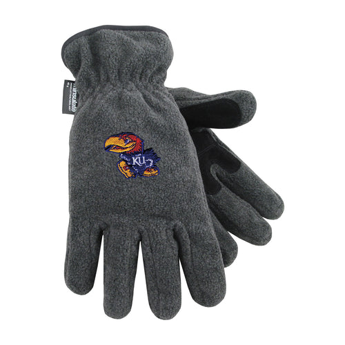 University of Kansas Heavy-Weight Fleece Gloves