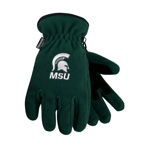 Michigan State University Heavy-Weight Fleece Gloves