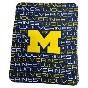 University of Michigan Classic Fleece Lightweight Blanket