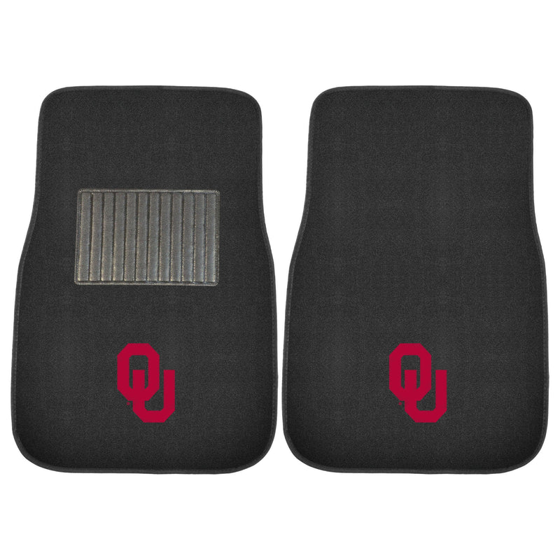 University of Oklahoma Sooners Carpet Car Floor Mats - 2-Piece
