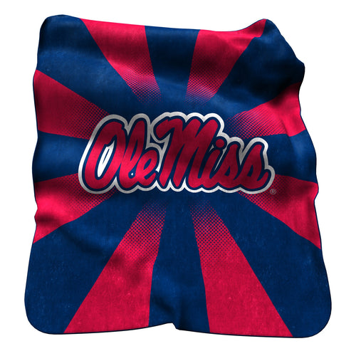 University of Mississippi Raschel Blanket