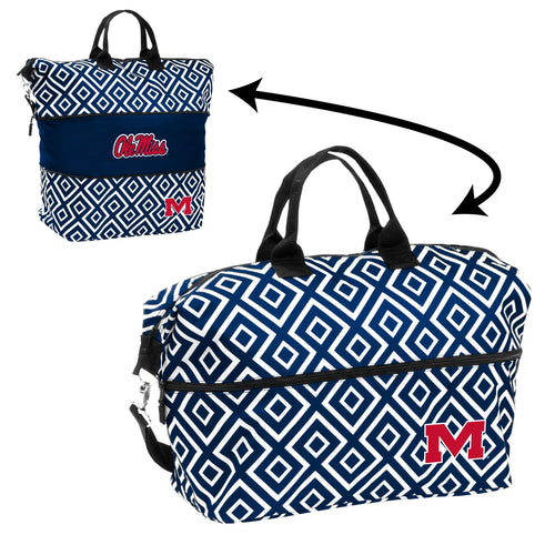 University of Mississippi Expandable Double Diamond Tote