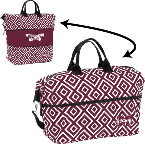 Mississippi State University Expandable Double Diamond Tote