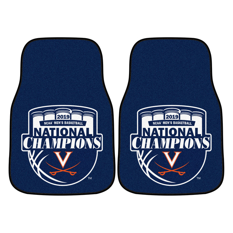 University of Virginia 2019 Basketball Champions Carpet Car Floor Mats - 2-Piece